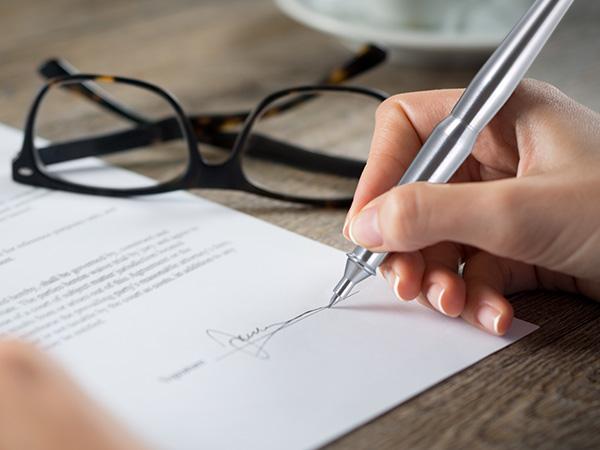 契約時のサイン